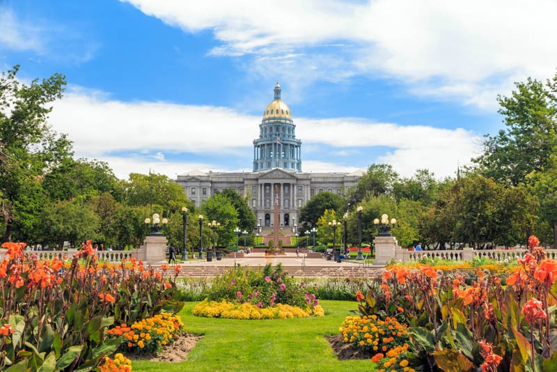 The Capitol Building in Denver Colorado