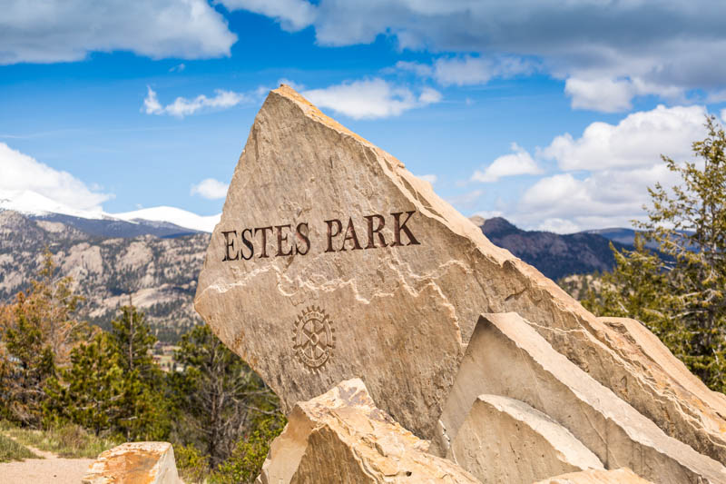 Sign for Estes Park Colorado