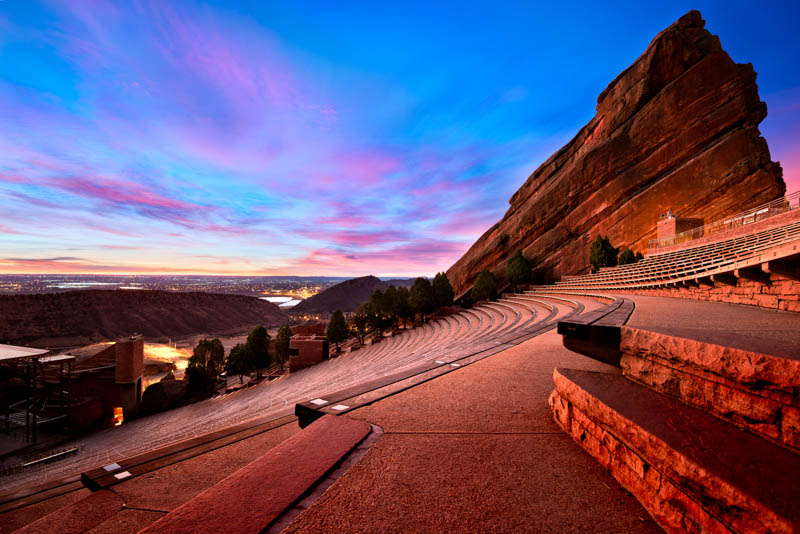 Red Rocks Amphitheatre in Morrison Colorado