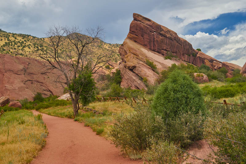 A trail in Roxborough State Park in Colorado