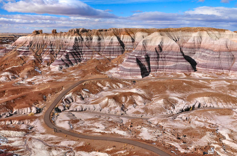 The Blue Mesa Hiking Trail in Petrified Forest National Park, Arizona