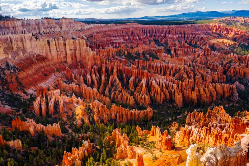 The amphitheater in Bryce Canyon National Park, Utah, from Panorama Point