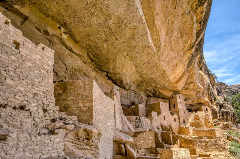 Cliff dwellings at Mesa Verde National Park in Colorado