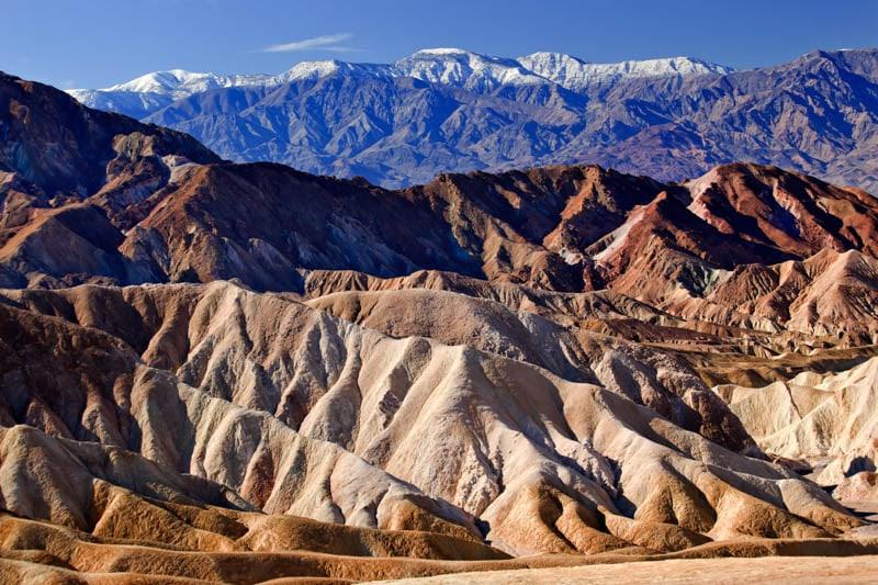 The badlands at Zabriskie Point in Death Valley National Park, California