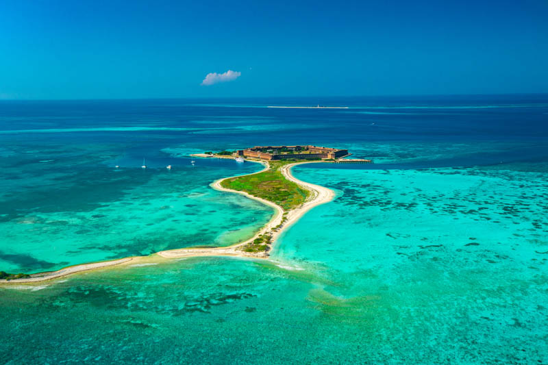 Aerial View Fort Jefferson Dry Tortugas NP Florida