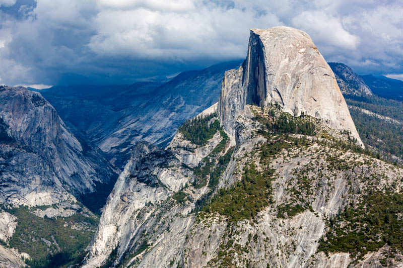 Iconic Half Dome in Yosemite National Park, California