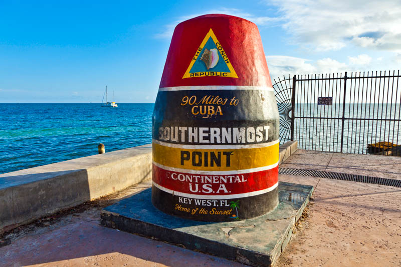 Southernmost Point Marker in Key West Florida