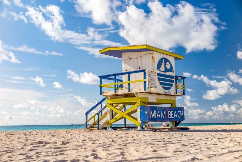 Lifeguard Tower, South Beach, Miami Beach, Florida