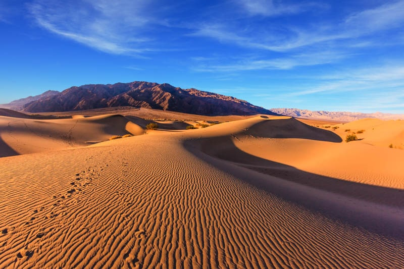 Mesquite Flat Sand Dunes are one of the must-visit sights at Death Valley National Park, California