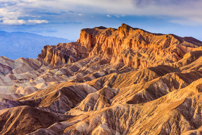 The Red Cathedral formation at Zabriskie Point in Death Valley National Park, California