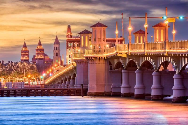 Beautiful architecture in Saint Augustine, Florida