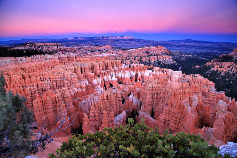 View from Sunset Point at Bryce Canyon National Park in Utah