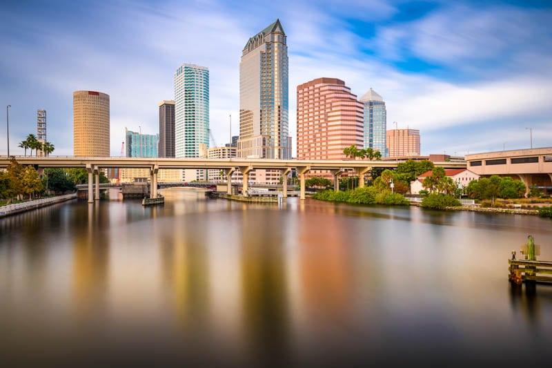 Skyline of Tampa Florida
