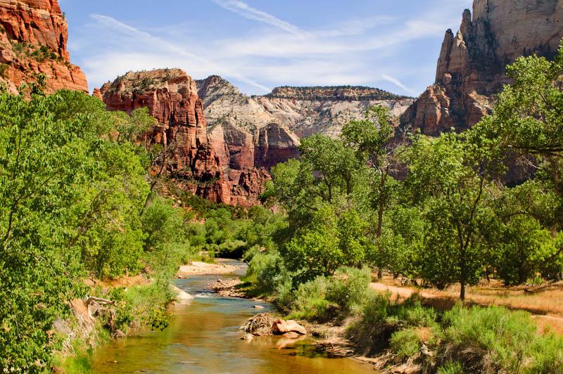 The Virgin River at Zion National Park in Utah.